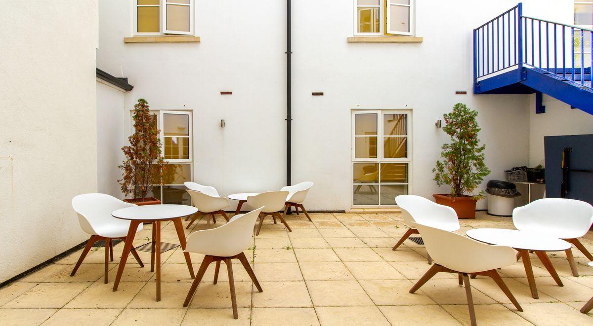 iron bridge studios courtyard