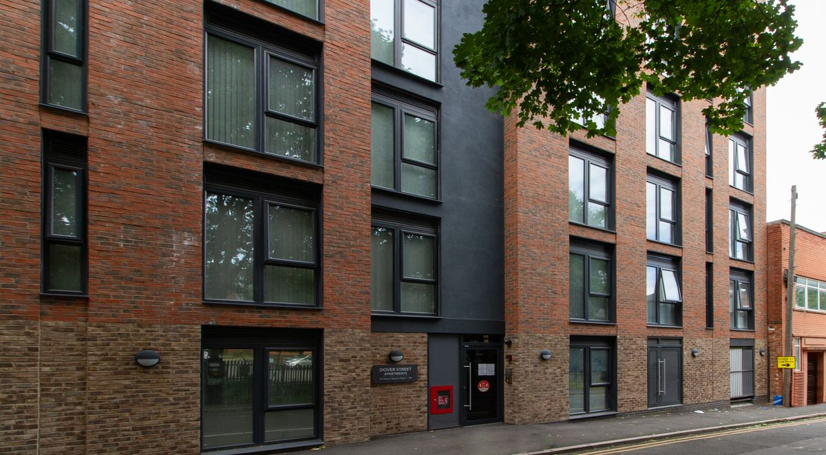 dover street apartments external view