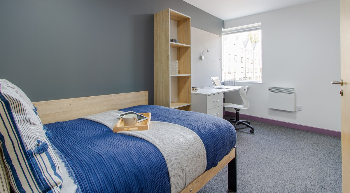 bedroom area Westwood Student Mews Warwick Student accommodation