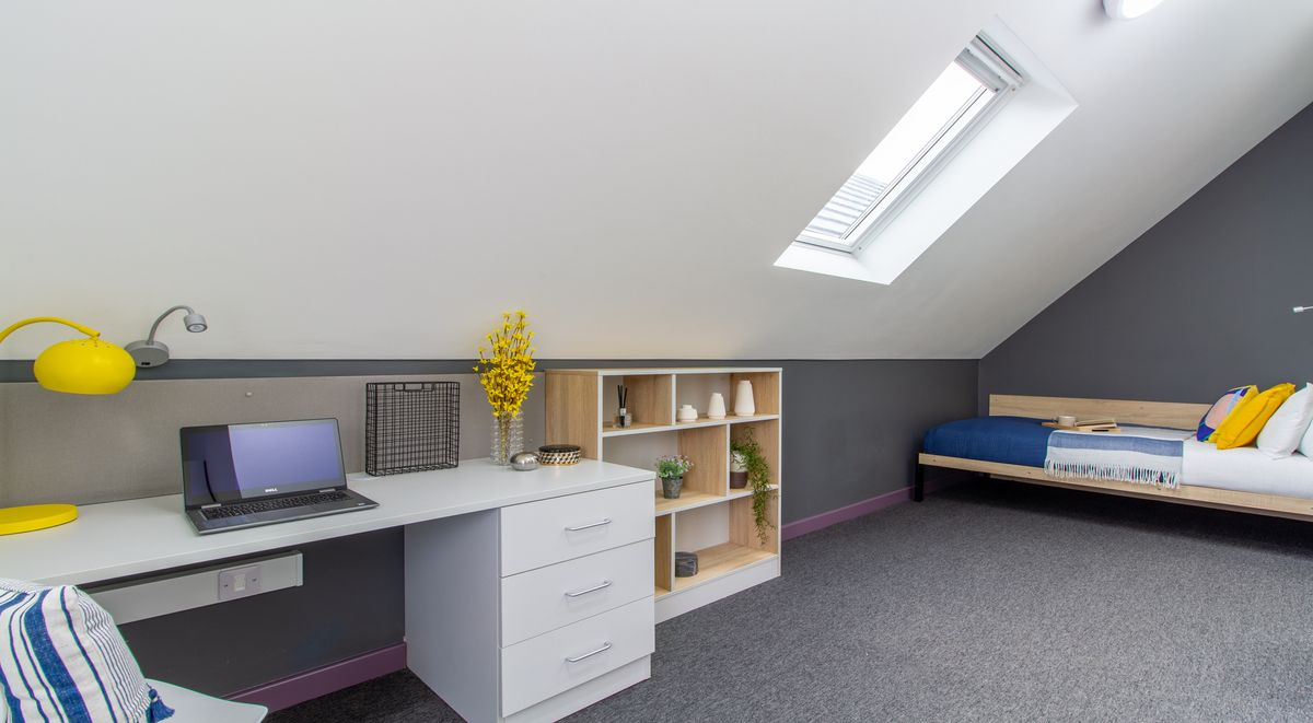 private studying area Westwood Student Mews Warwick Student accommodation