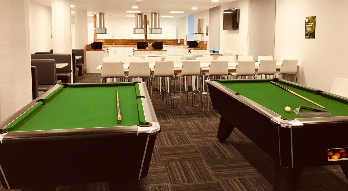 games room in st leondards leicester