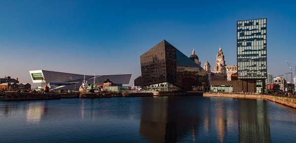 Liverpool city waterfront