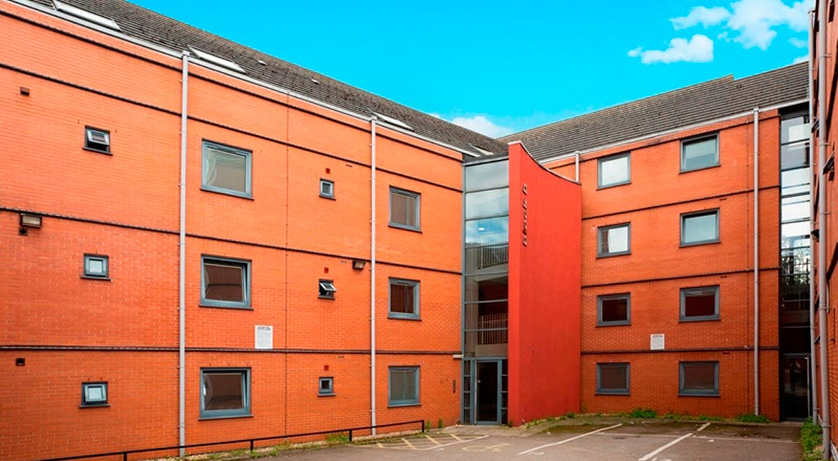 albion court leicester exterior