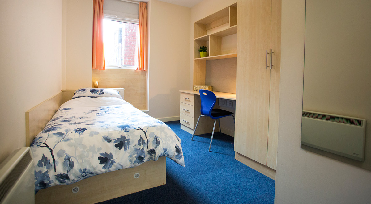 bedroom space Brayford Quay Lincoln Student Accommodation