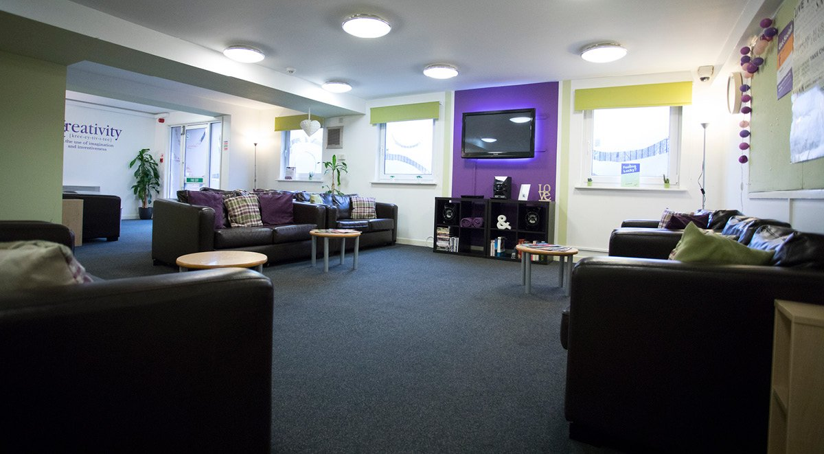 common space College court stoke on trent student accommodation