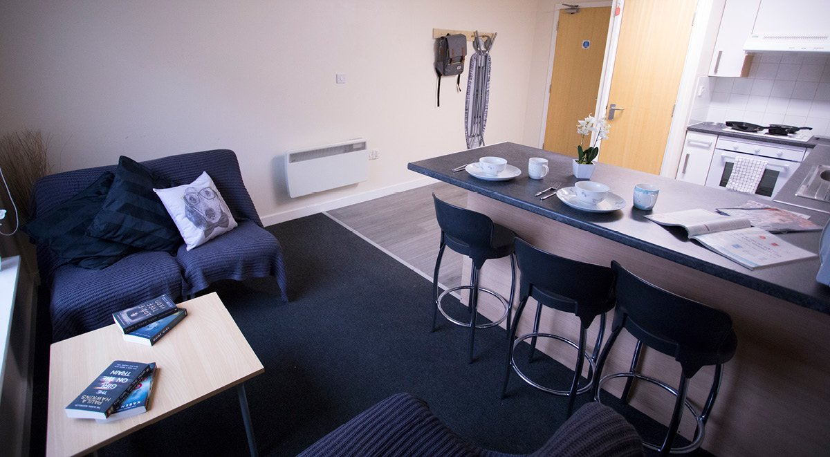 communal space College court stoke on trent student accommodation