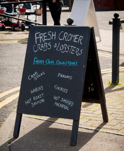 Cromer Crab in Norwich