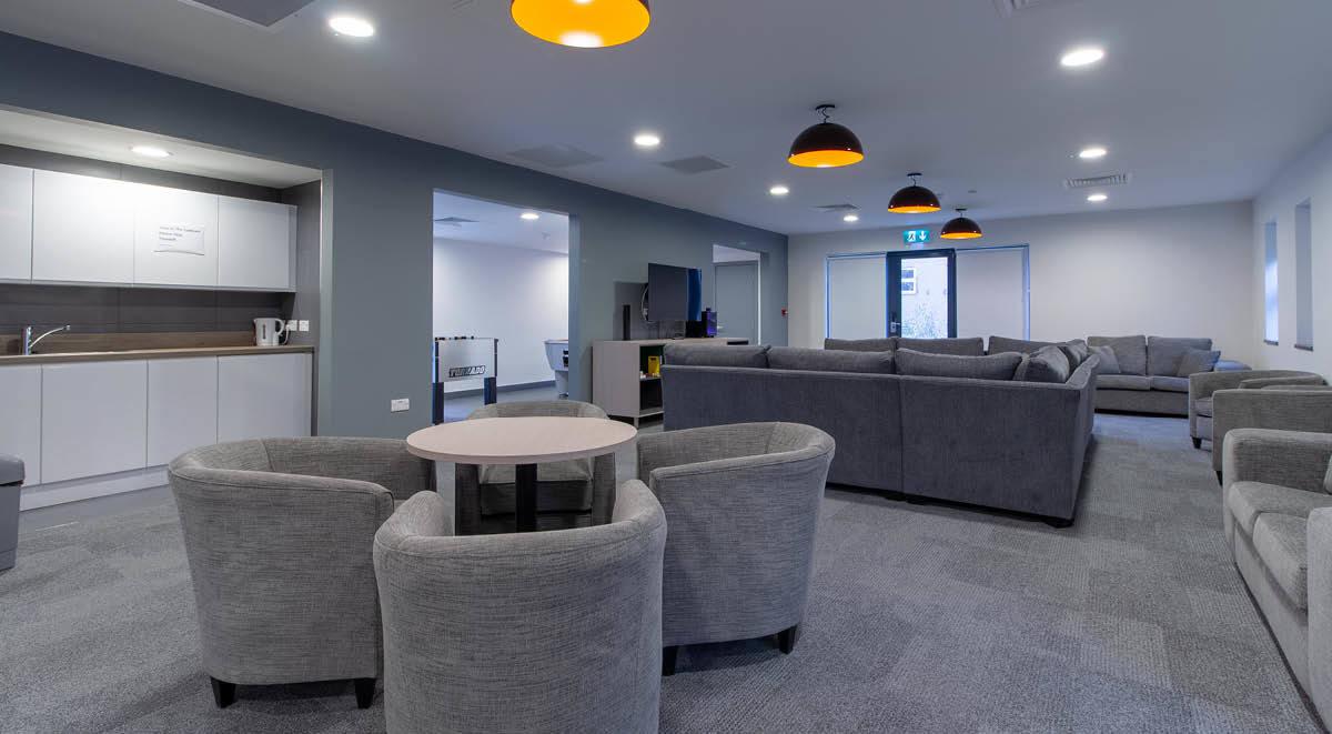 lounge area Green Wood Court Southampton student accommodation