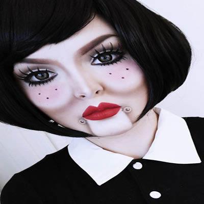 Scary Doll Makeup Hallowen