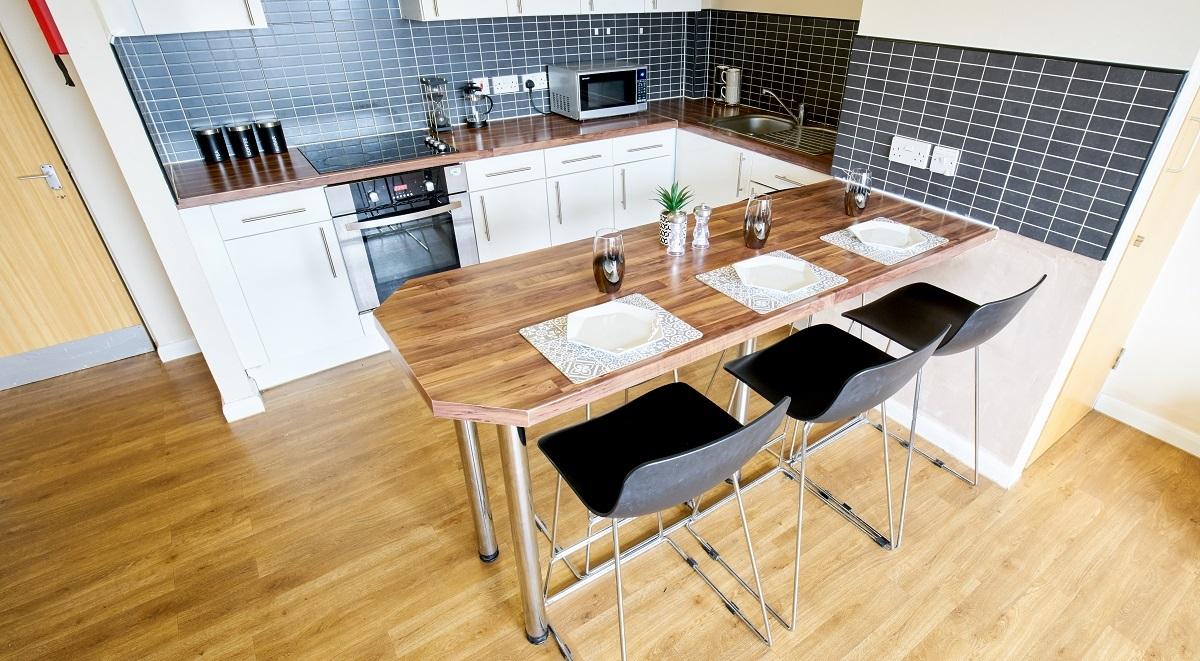 kitchen in heald court manchester