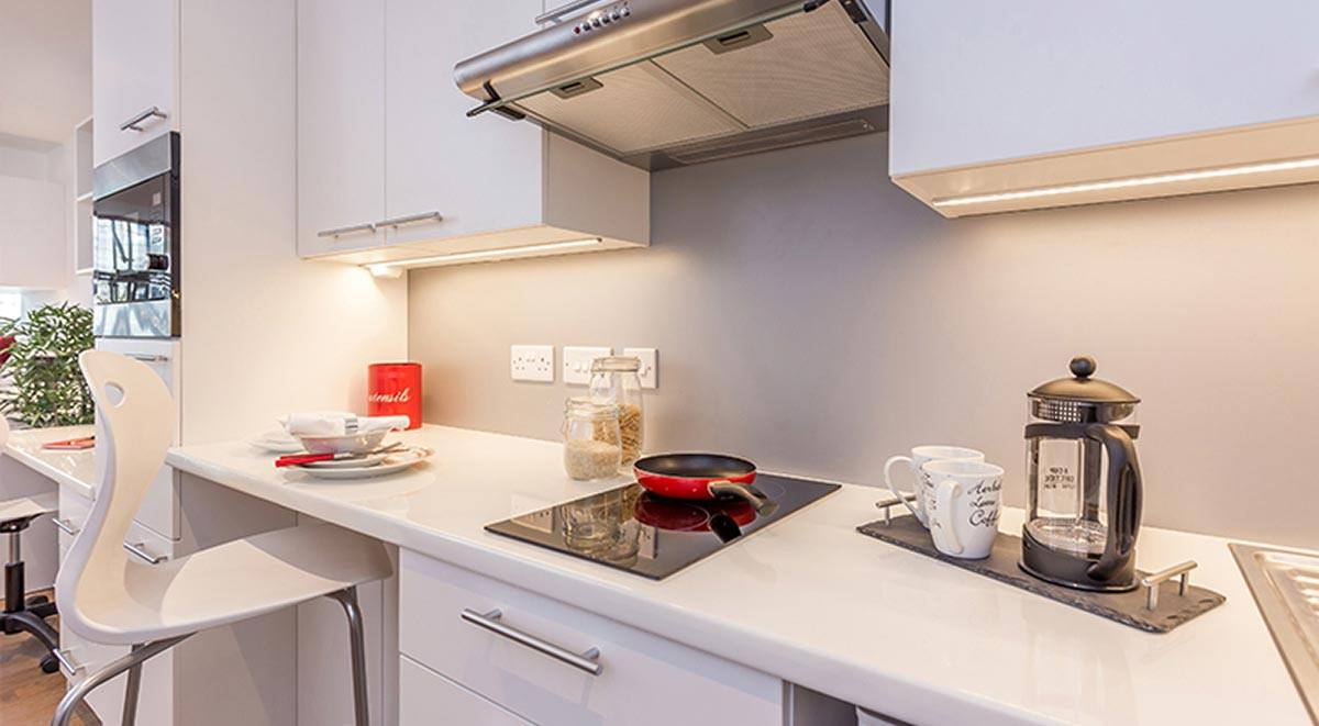 kitchen space Marland House Southampton Student Accommodation
