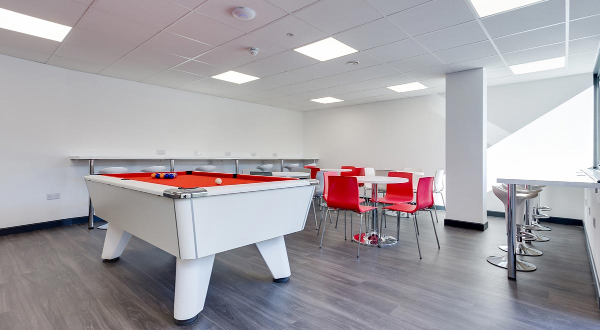 game room Marland House Southampton Student Accommodation