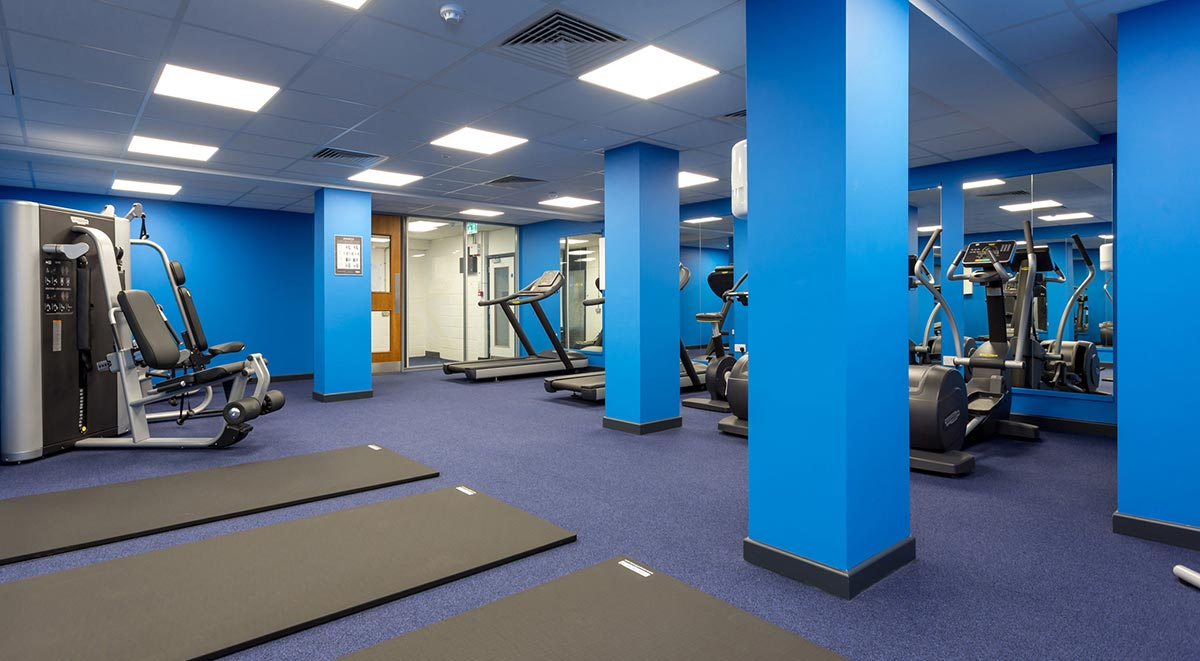 fitness area Marland House Southampton Student Accommodation