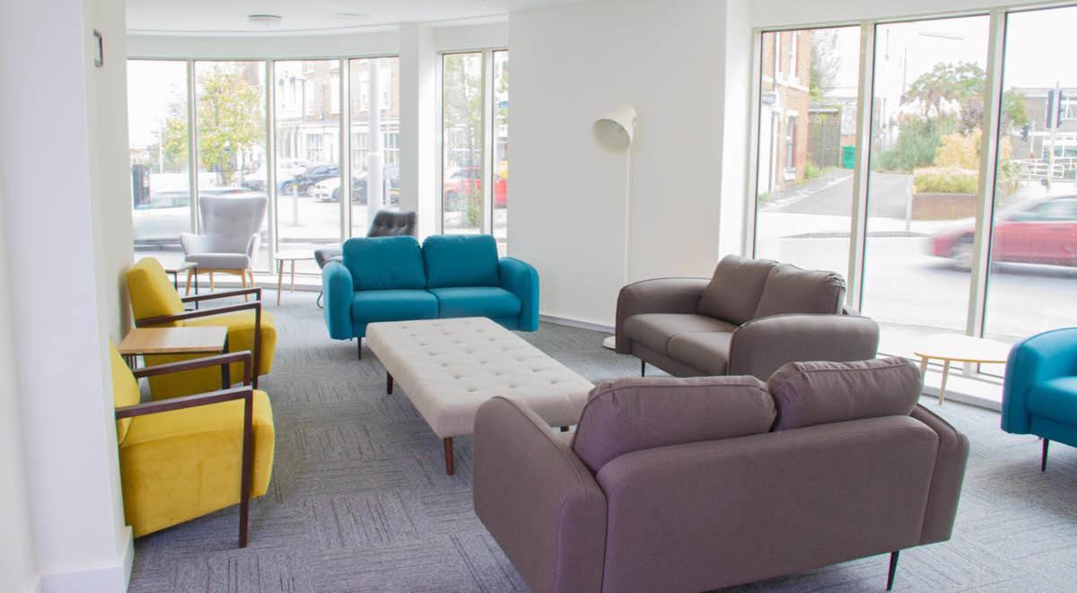sitting area Orbital Nottingham Student Accommodation