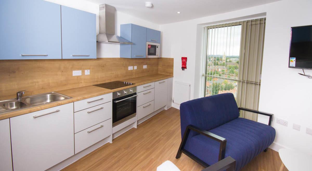 kitchenette Orbital Nottingham Student Accommodation