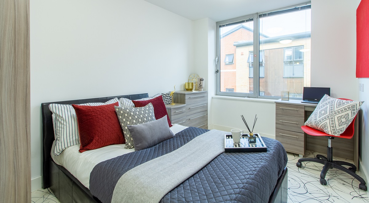 bedroom Queens Gate Southampton student accommodation