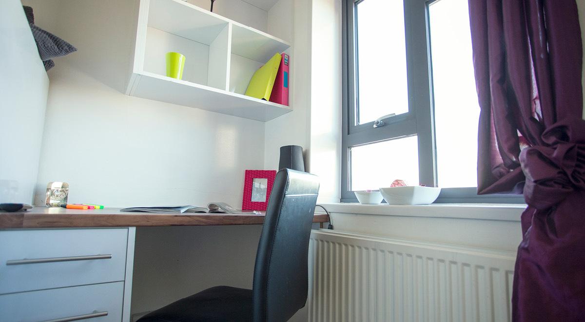 quiet study area surrey quays landale house london student accommodation