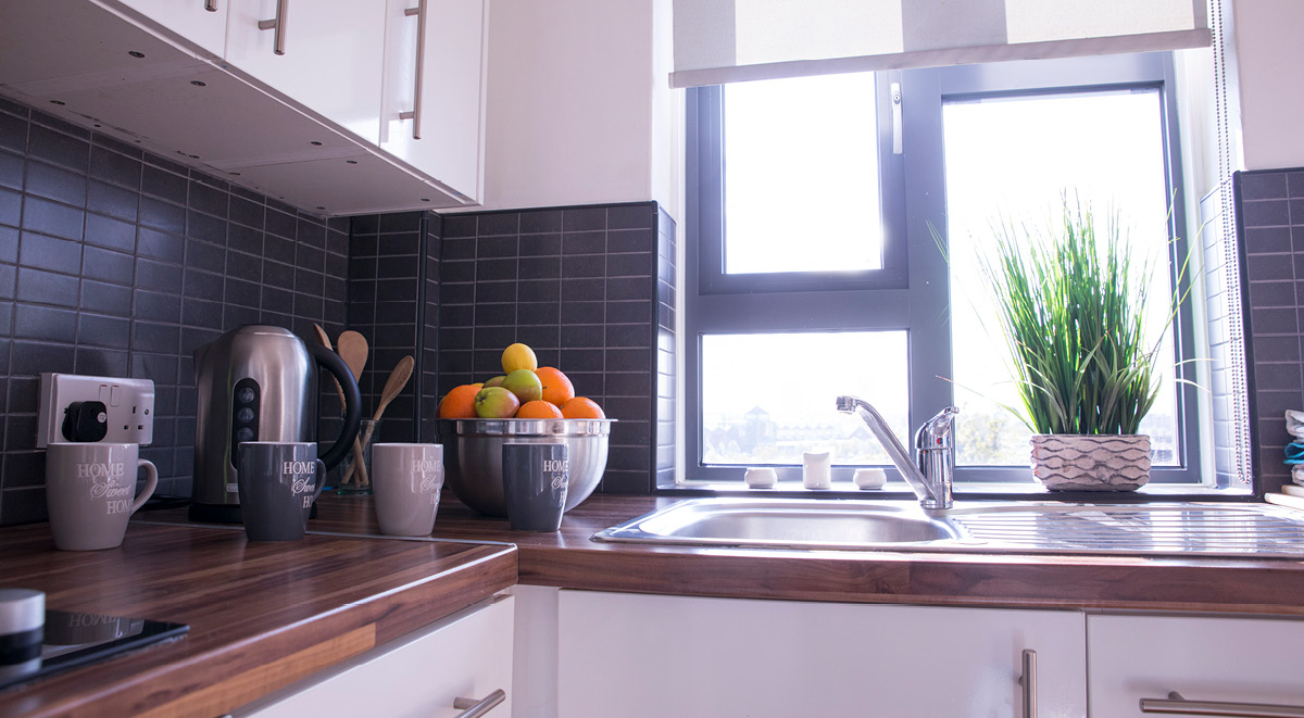 kitchen surrey quays landale house london student accommodation