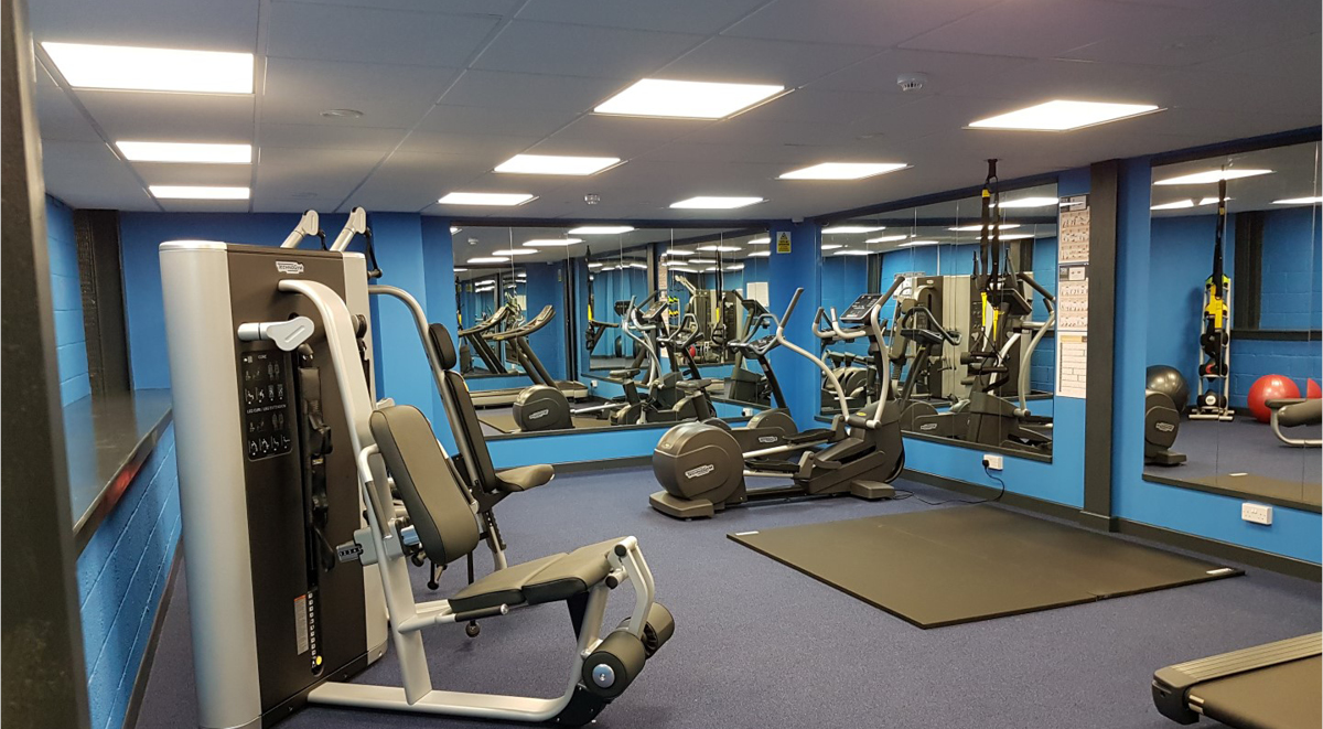Fitness area in The Court Yard Southampton Student Accommodation