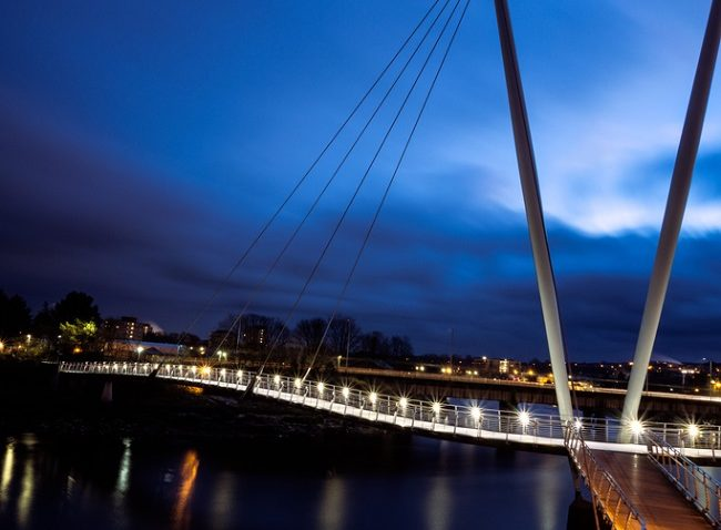 the millennium bridge in lancaster