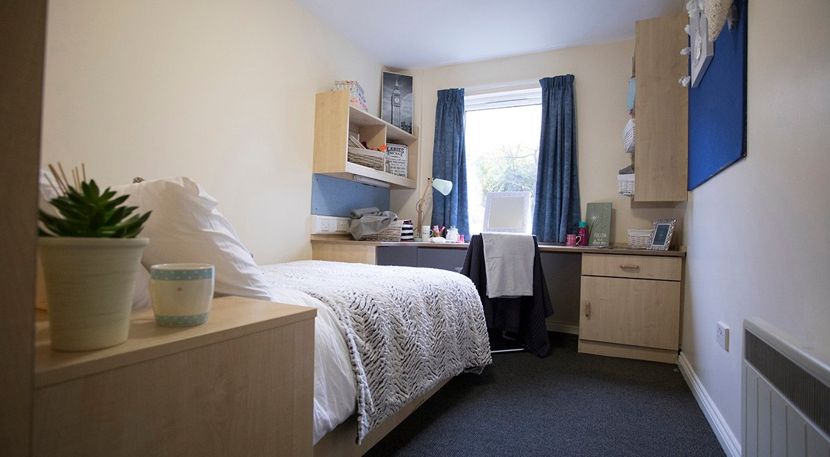 private bedroom Trinity Student Village Preston Student Accommodation