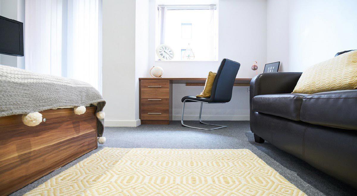 Bedroom area in Windsor Court Liverpool