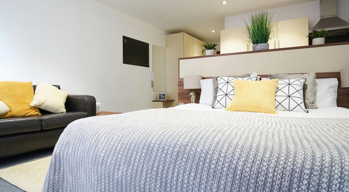 Bedroom space Windsor Court Liverpool