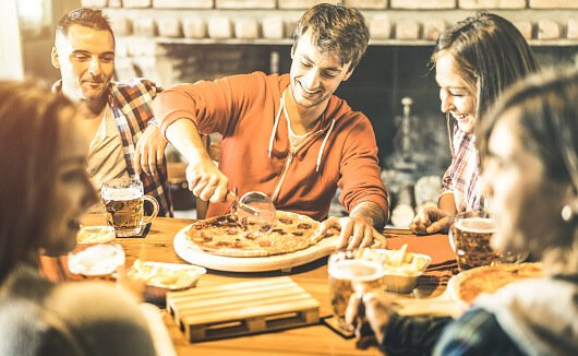 students eating out in colchester