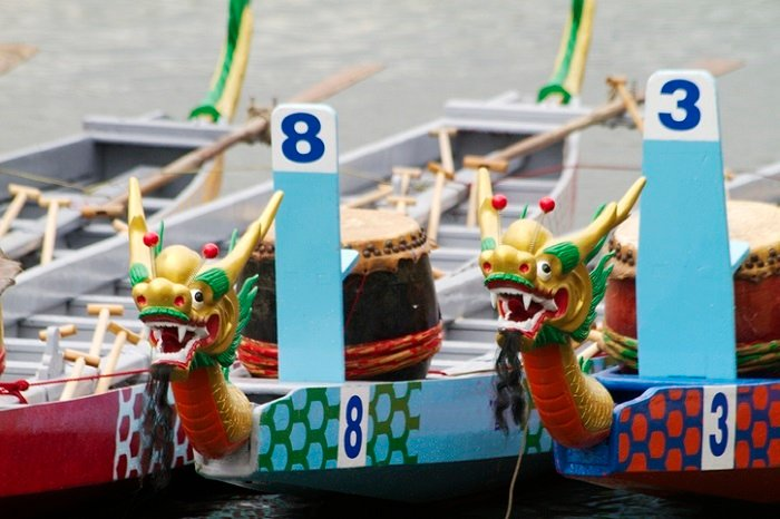 a dragonboat race in Exeter