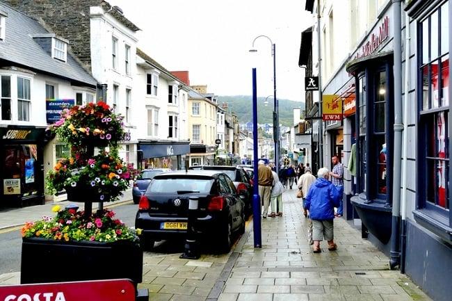 shopping in Aberystwyth