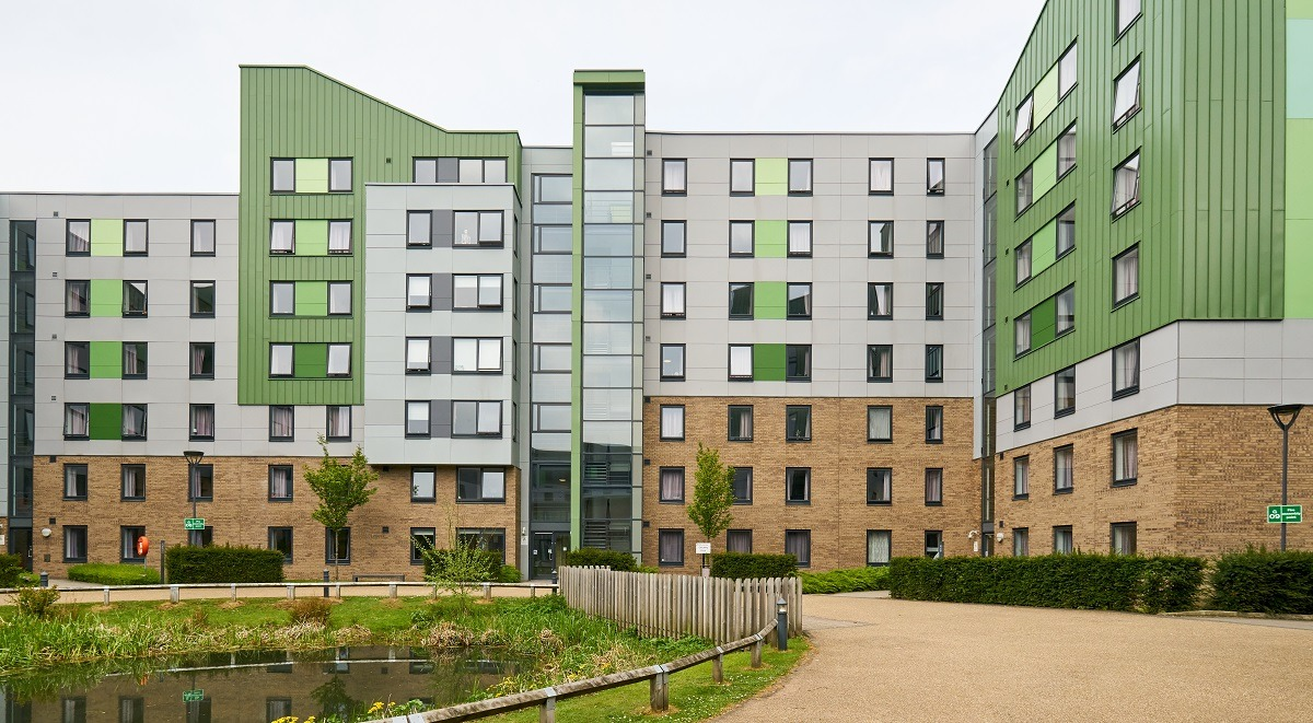 exterior of the green accommodation bradford