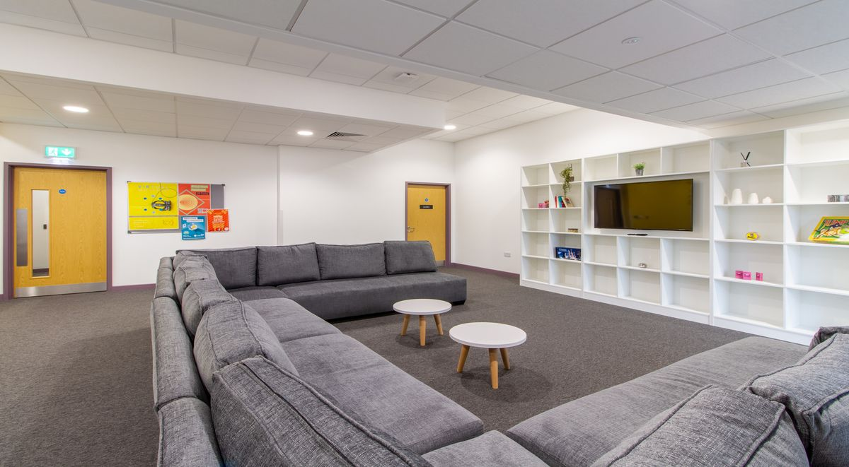 communal area at westwood student mews