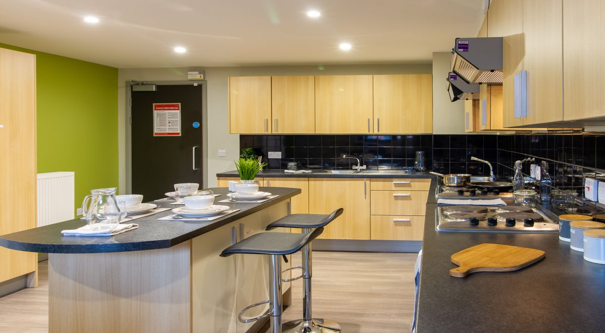 shared kitchen in calcott ten student accommodation coventry