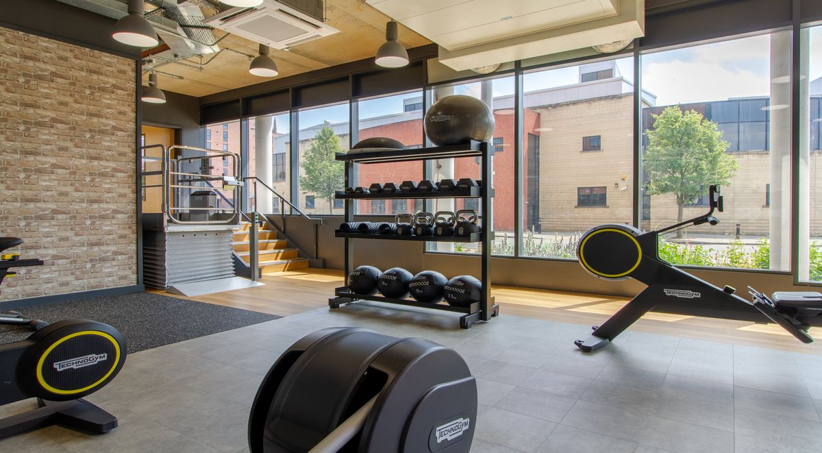 gym at the croft student accommodation derby
