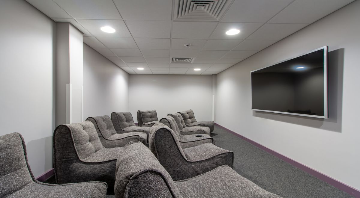 cinema room at westwood student mews