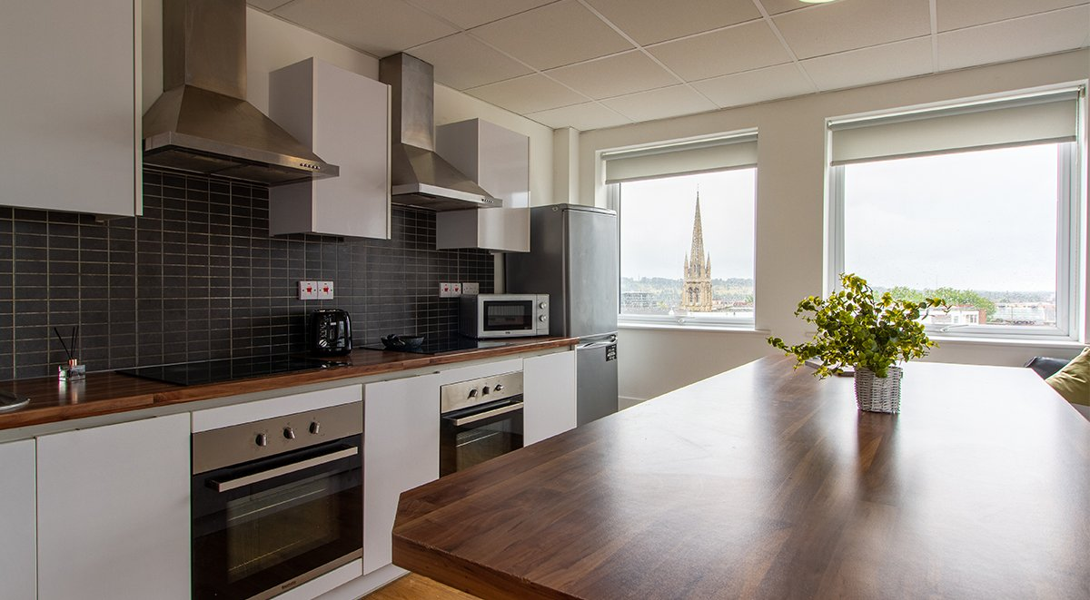 shared kitchen in danesgate house lincoln