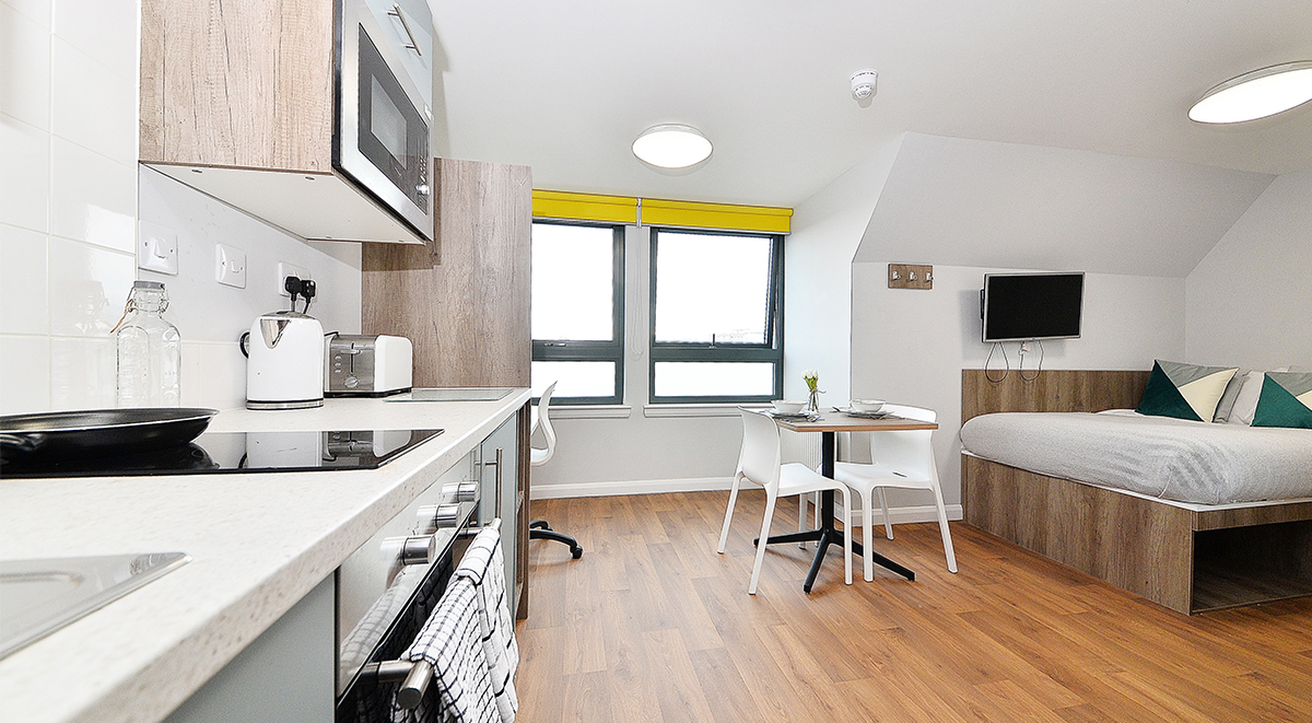silver studio dining space The Mill House Edinburgh Student Accommodation
