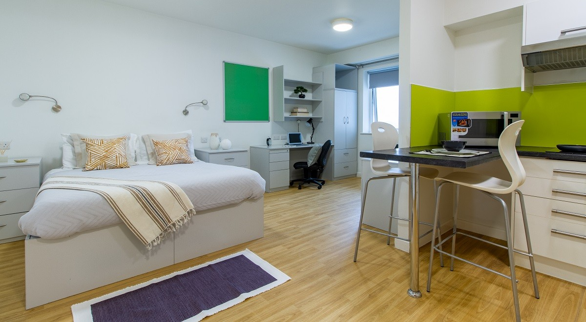 double student studio accommodation in the maltings
