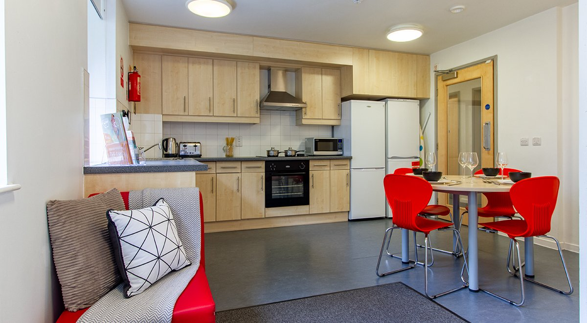 shared kitchen in the green student accommodation bradford