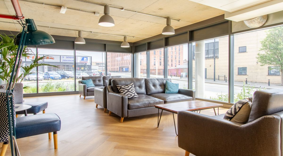 common room in the croft student accommodation derby