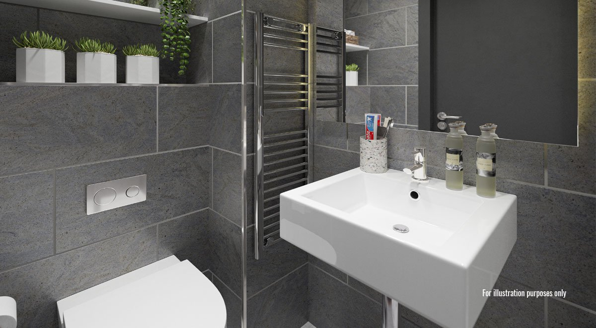 ensuite bathroom in aspen student accommodation dublin