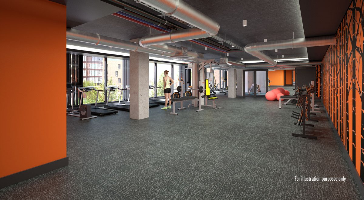 gym in aspen student accommodation