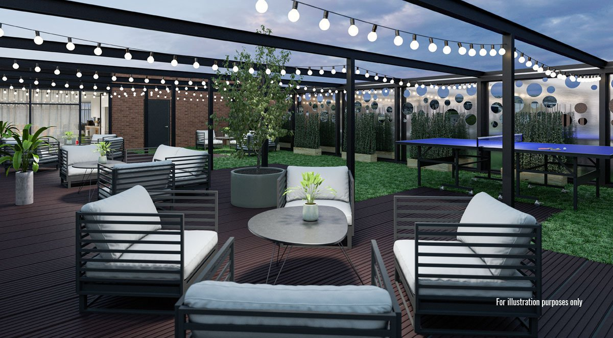 aspen student accommodation roof terrace