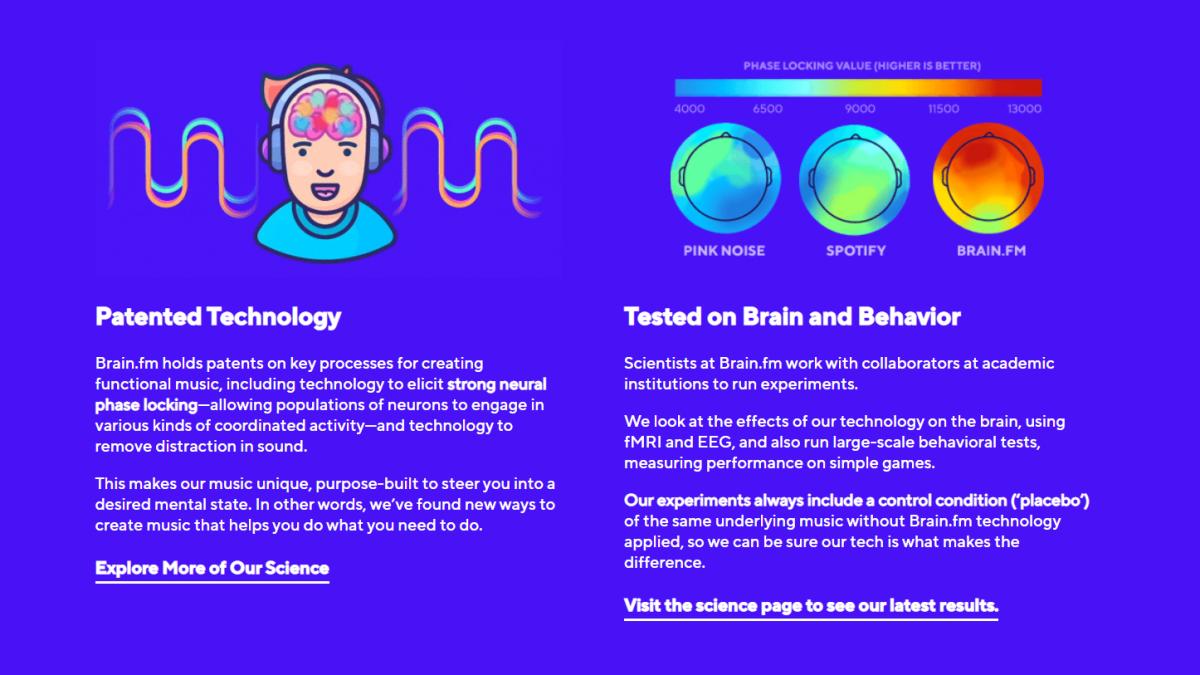BrainFM concentration and focus app