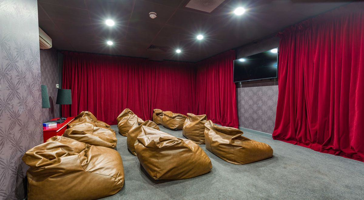 cinema room in glasgow gallery apartments