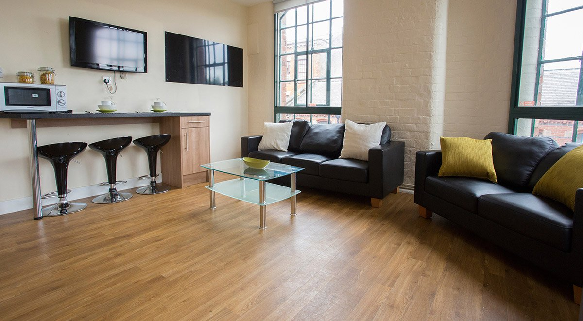 living room in shared accommodation nottingham square