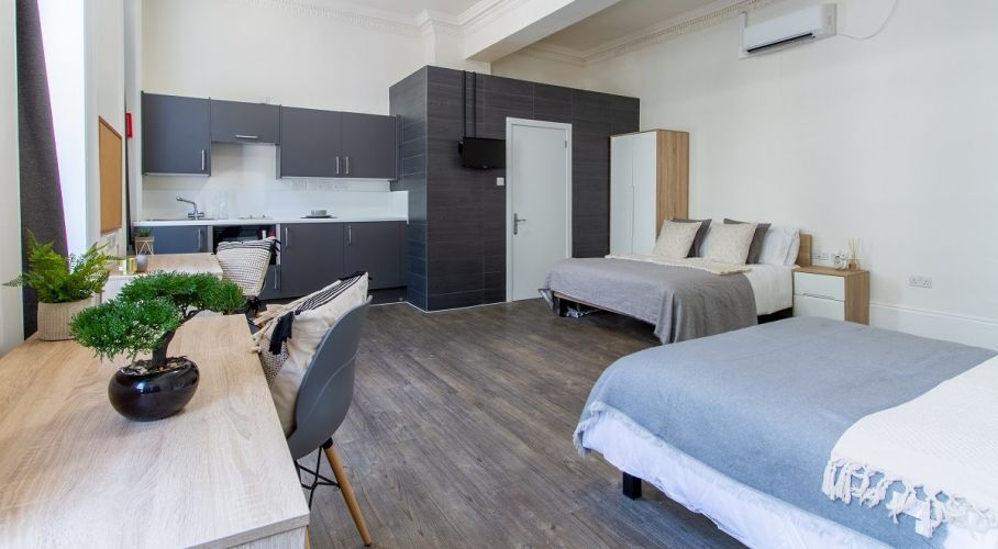 Student bedroom decoration in London