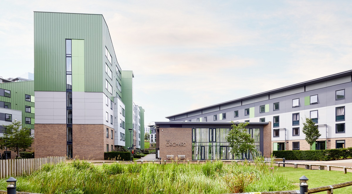 the green student accommodation in bradford outdoors