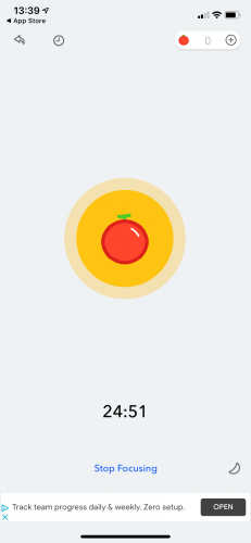 Tomato focus app screenshot