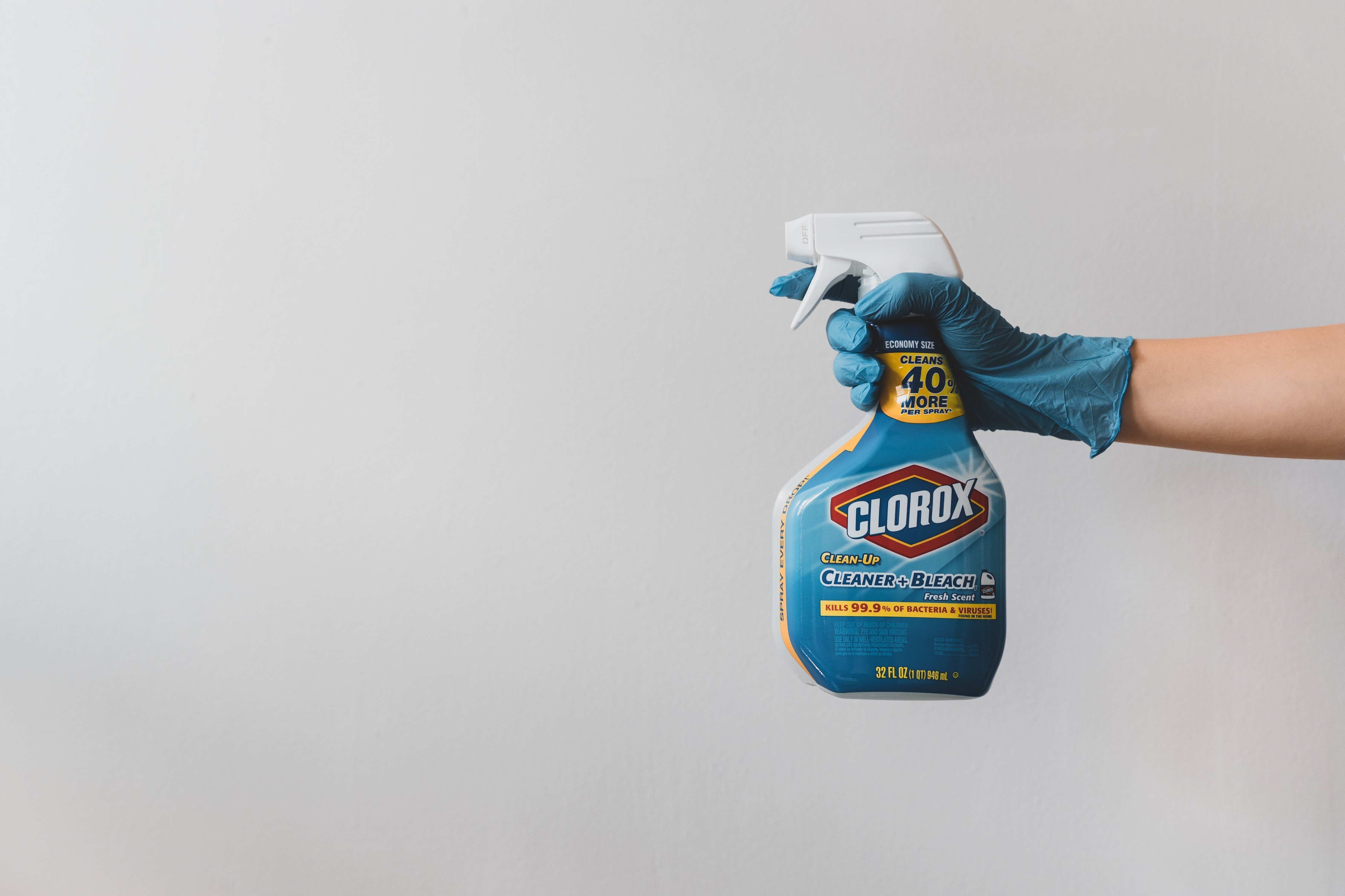 bleach is a must-have cleaning product for a student household